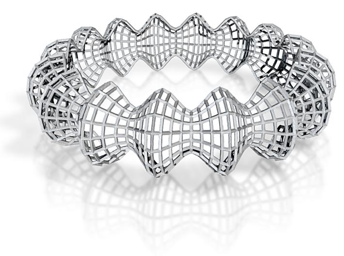 Wireframe Bracelet 3d printed