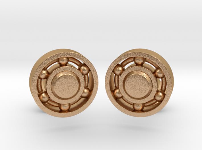 Ball Bearing Cufflinks 3d printed