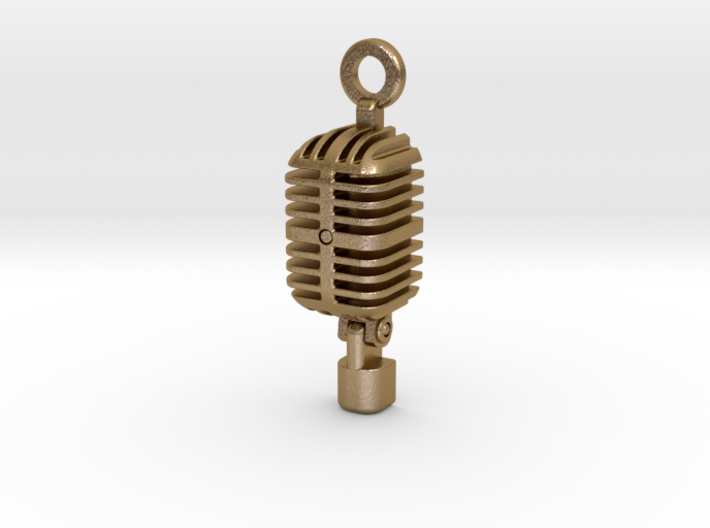 Classic Microphone Pendant 3d printed