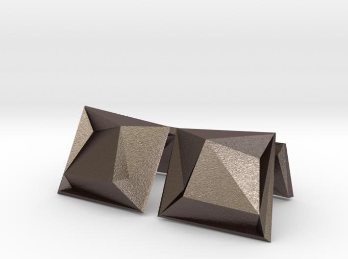 Origami Cufflinks 3d printed