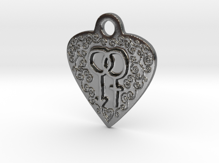 Transgender Heart Pendent 3d printed