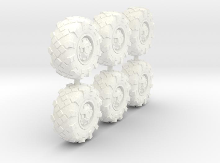 25mm diameter BTR-style wheels x6 3d printed