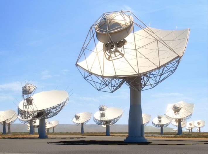 SKA Radio Telescope Dishes (set of 3) 3d printed The SKA Dish Antennae (artist's impression)