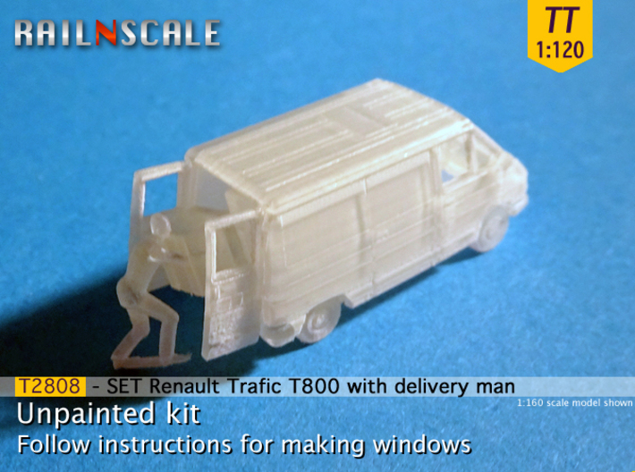SET Renault Trafic T800 with delivery man (TT) 3d printed