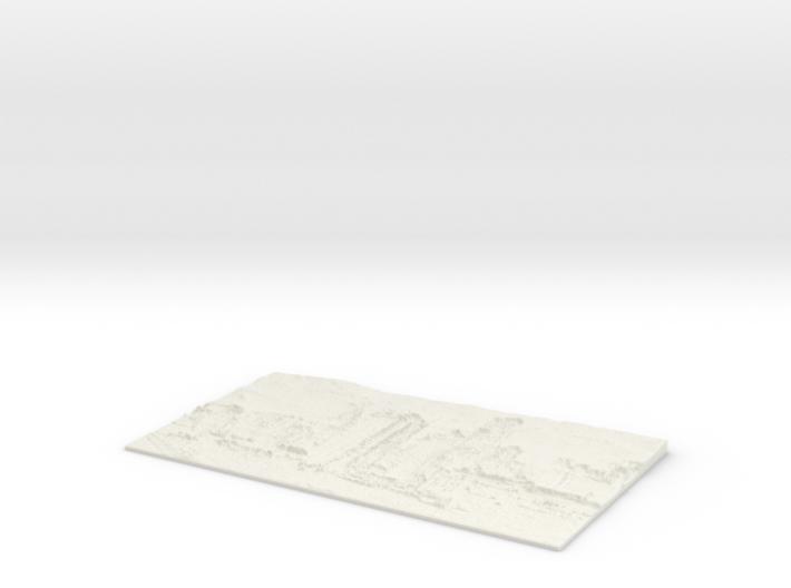 Apocalyptic City Flat Lithophane 3d printed