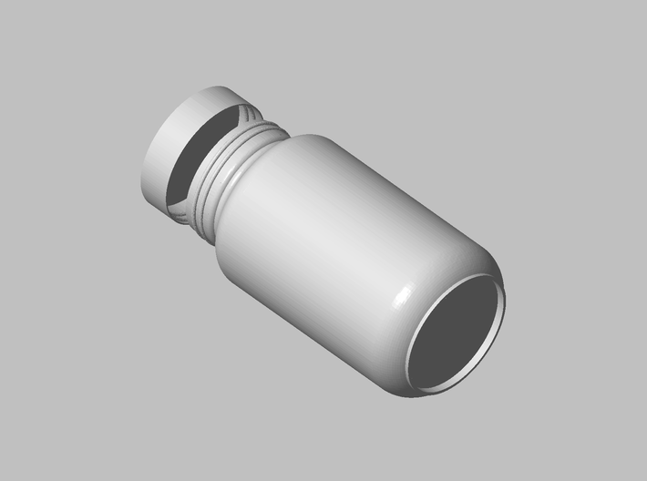 Nutrition Bottle 3d printed Perspective view