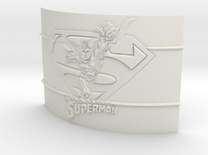 Superman Curved Lithophane 3d printed