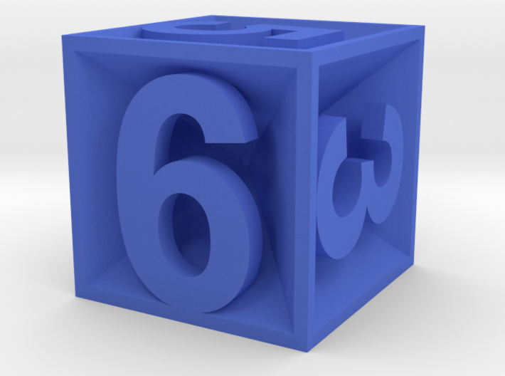 D6 - Plunged Sides 3d printed