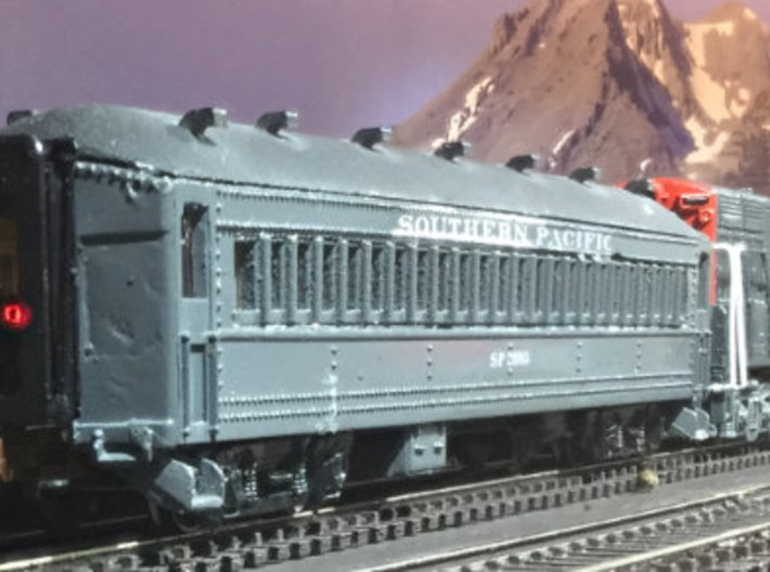 SP Suburban 72' Coach Seat N Scale 3d printed Finished model
