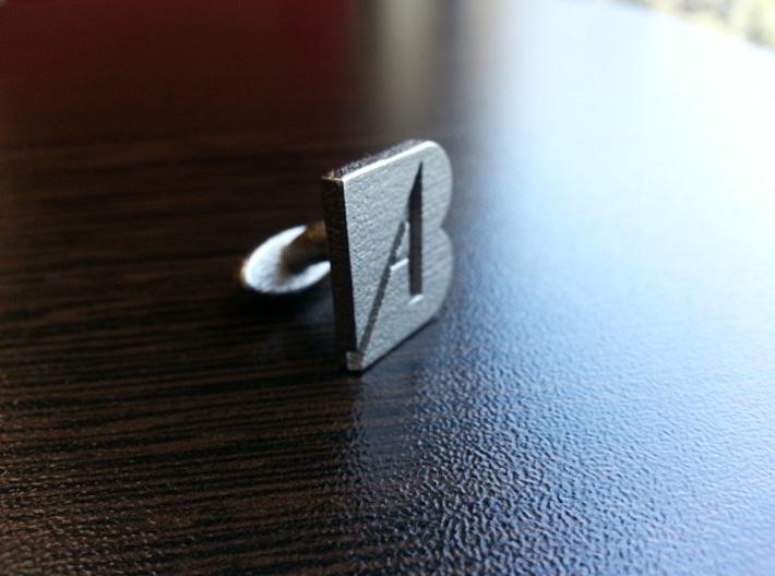 A-B initials cufflinks 3d printed