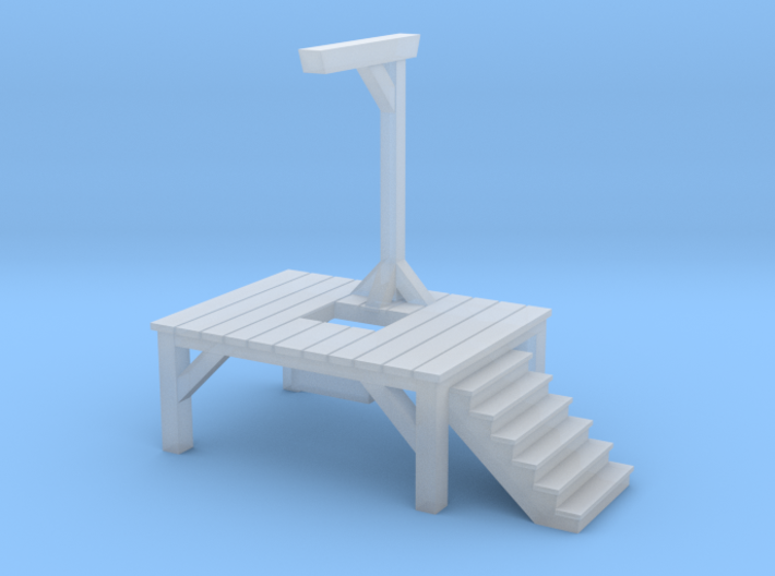 Gallows - Single Posted, Dropped (1/87 Scale) 3d printed