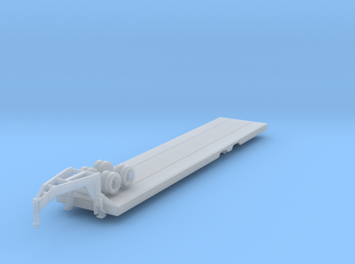 1/87 Scale 40ft Goose Neck Trailer 3d printed