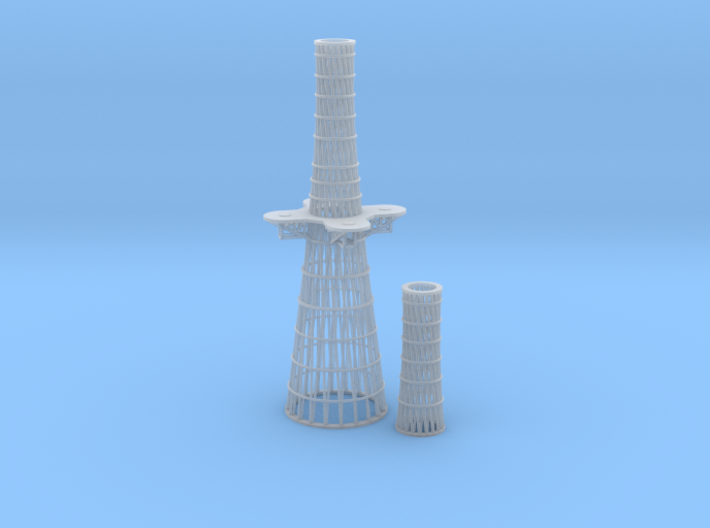 1/350 Tennessee and Colorado class Cage Masts 3d printed