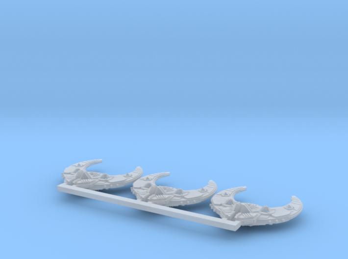 Intruder frigate x3 3d printed
