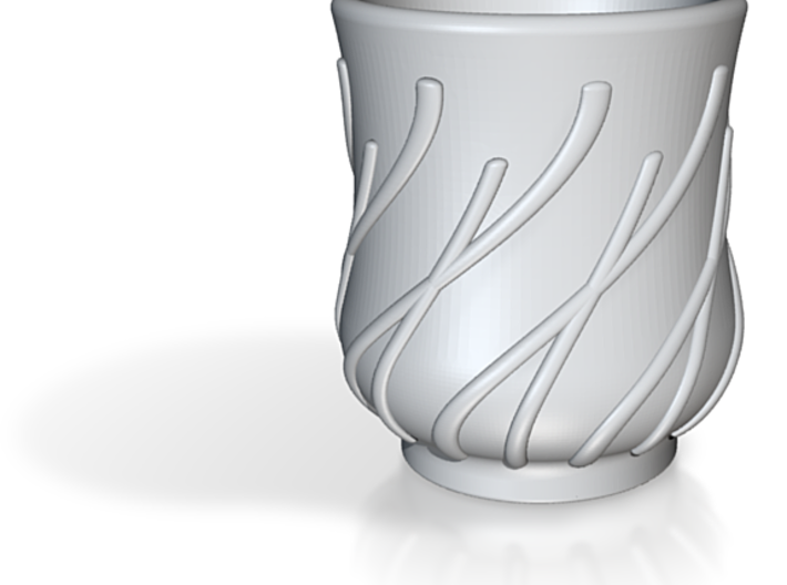 Tea Cup Japanese style Bamboo 3d printed