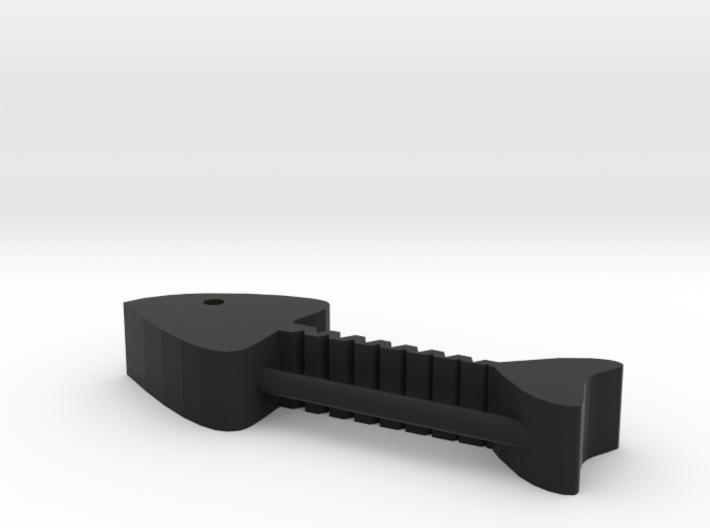 Fish Bones Headphone Reel 3d printed