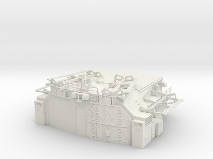 1/144 Bismarck Aft Double Hangar 3d printed