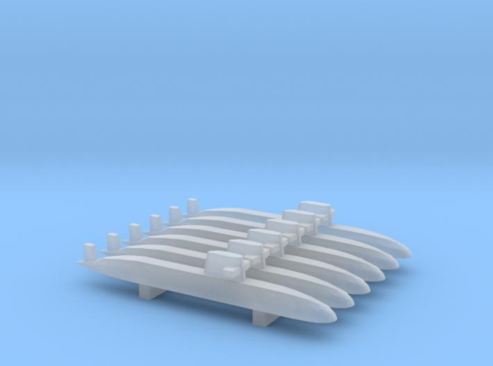 Oyashio-class submarine, 1/3000 3d printed