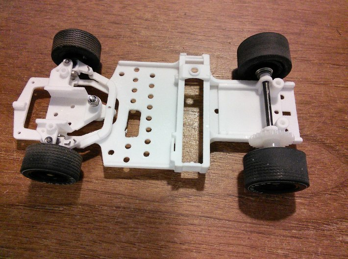 CK8 Chassis Kit for 1/32 Scale 2.4ghz RC Mag Steer 3d printed Chassis built with earlier version of CK8, ready for motor and electronics.