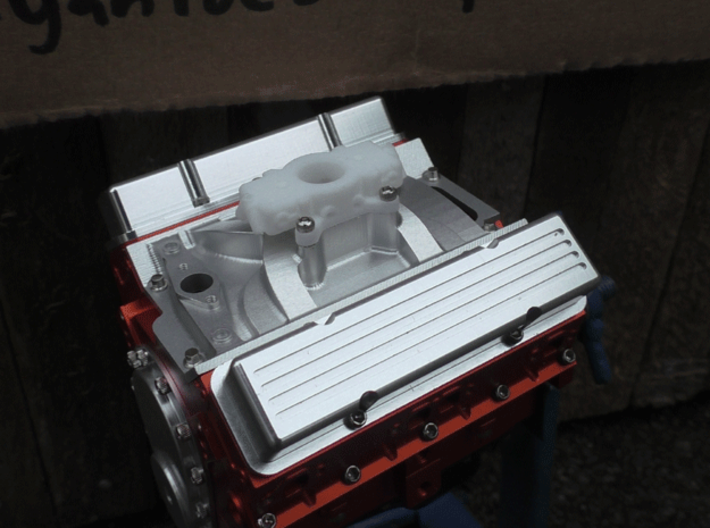 Carburetor (type 1) 3d printed Mounted to RC4WD V8 Engine (not included).