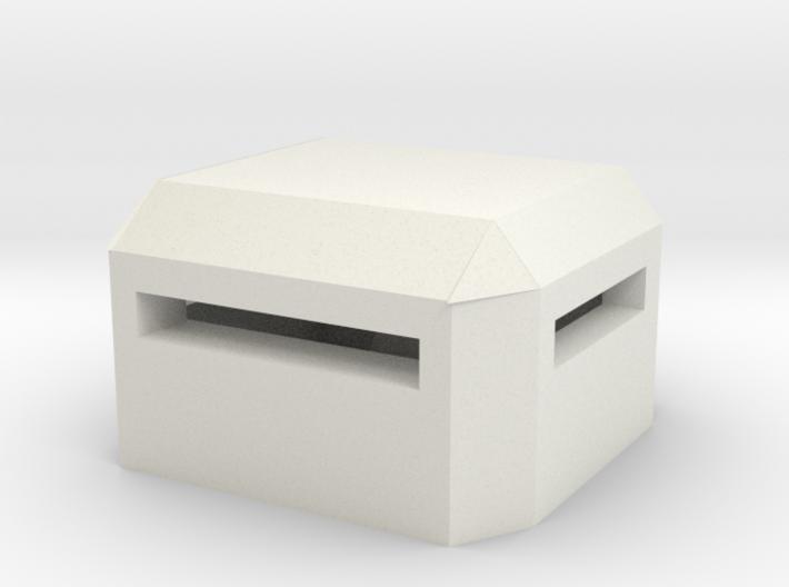 Square Bunker 3d printed