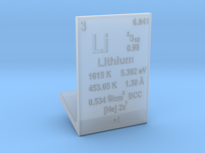 Lithium Element Stand 3d printed