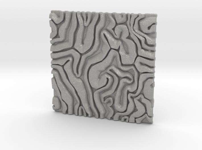 Coral pattern Seamless Decorative miniature tiles 3d printed