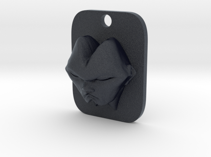 Personalised Man's Face Caricature Keyfob (002) 3d printed