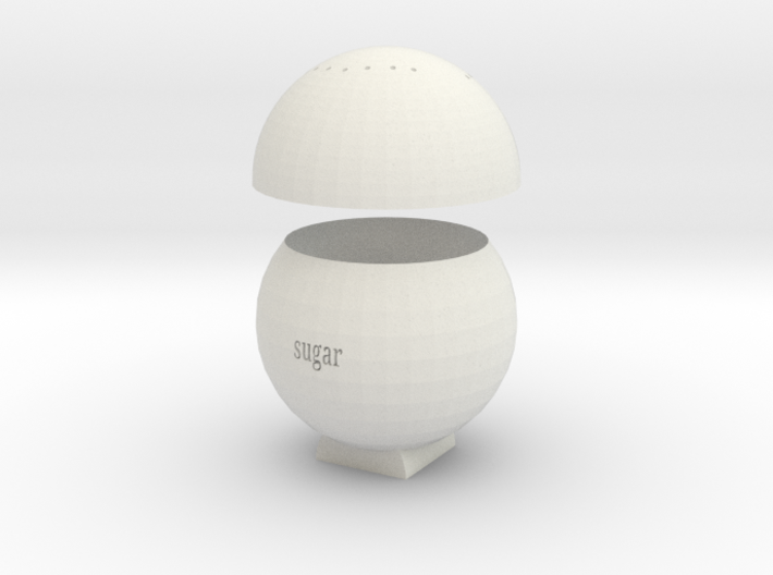 sugar Spice jar 3d printed