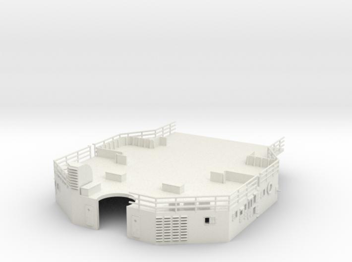 1/144 Bismarck AftSuperstructure 2nd Deck 3d printed