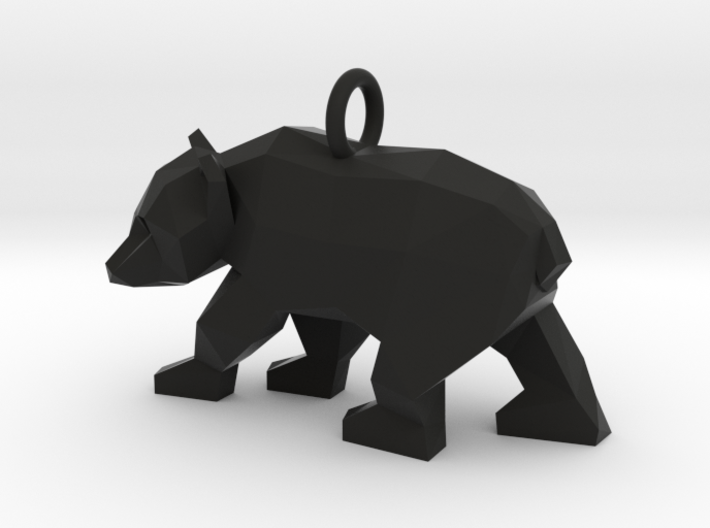 Grizzly Bear Pendant 3d printed
