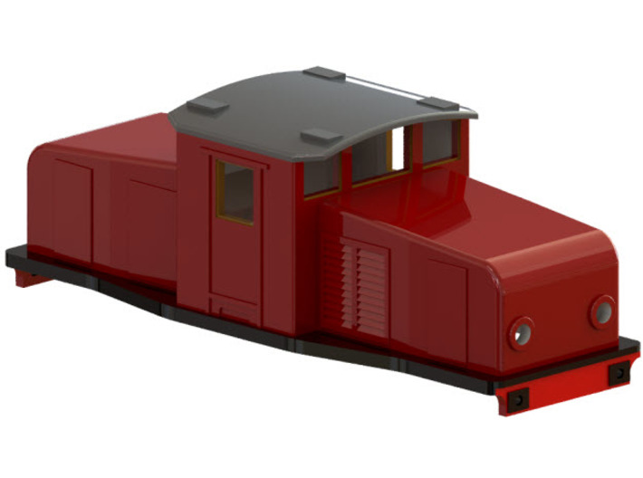 Swedish SJ electric locomotive type Ub - N-scale 3d printed CAD-model