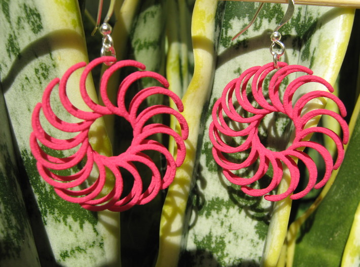 Sun 2 Earrings 3d printed