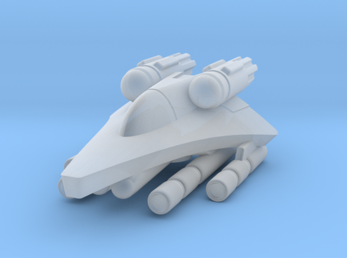 "285 Scale Gorn G-18K ""Serpent"" Fighter WEM 3d printed"
