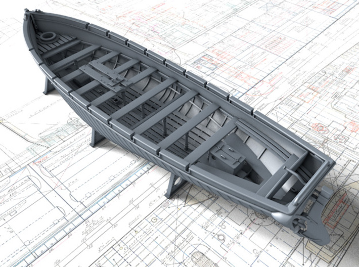 1/128 Royal Navy 42ft Motor Launch x1 3d printed 3d render showing product detail