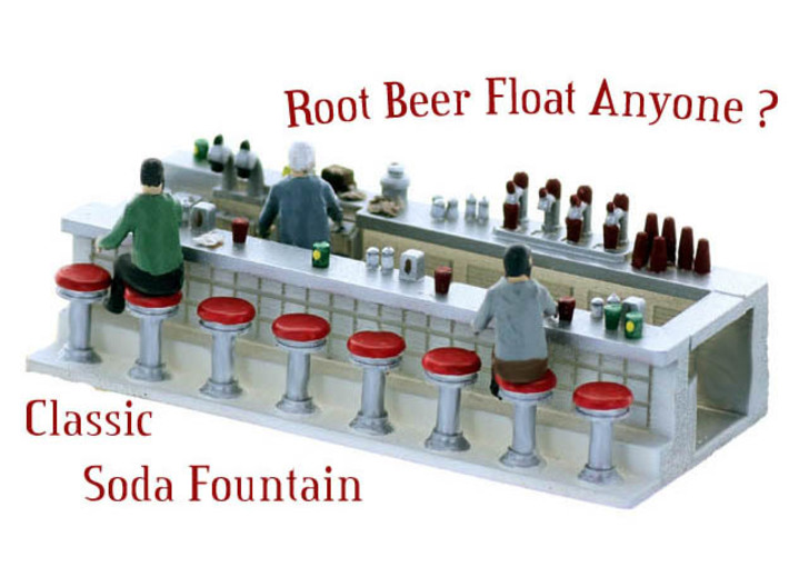 Soda Fountain Super Detailed S Scale 3d printed Soda Fountain