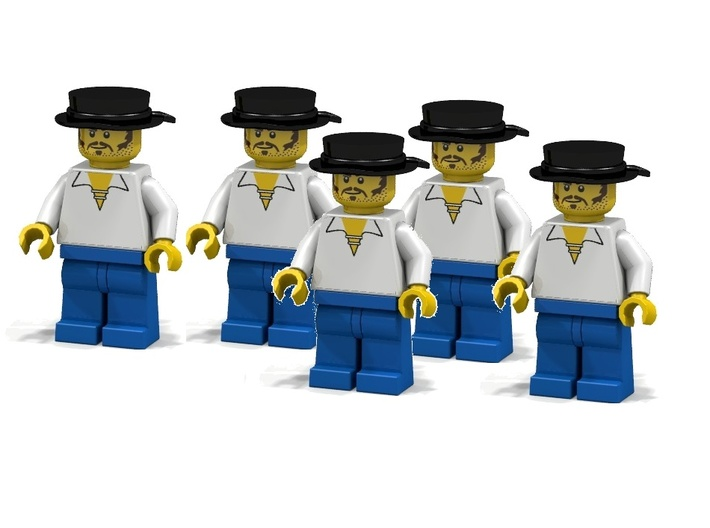 5 x Midshipmen 3d printed British Midshipmen (Render of an example usage)