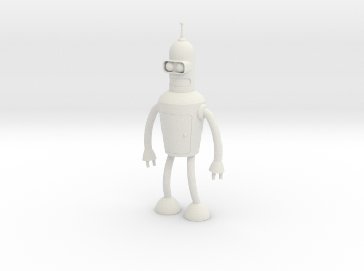 Futurama Bender Figure 3d printed