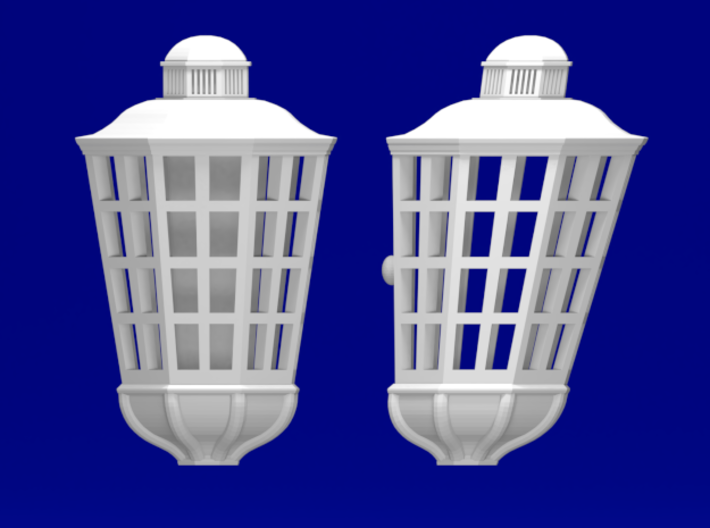 1:78 HMS Victory Lanterns 3d printed Front and side view (same for each size)