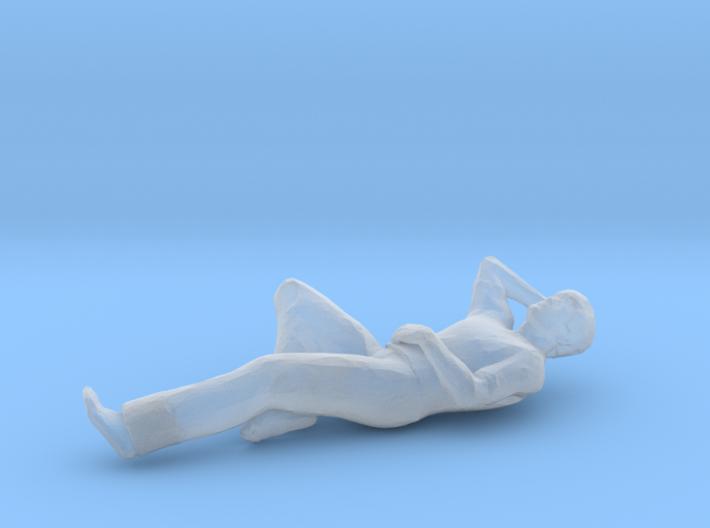 Man Laying Left Leg & Arm Bent 3d printed