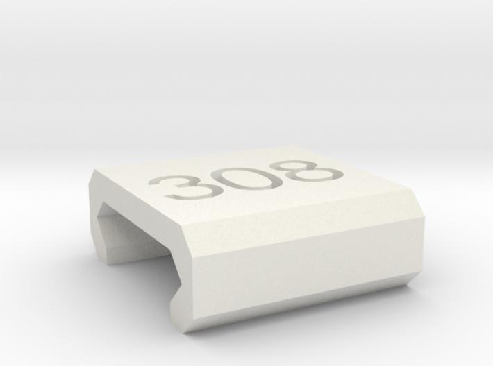 Caliber Marker - Picatinny - 308 3d printed