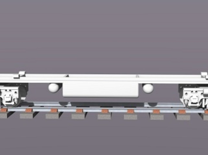 Baldwin DT6-6-2000 Dummy Chassis X2 N Scale 1:160 3d printed Rendered Dummy Chassis & Trucks