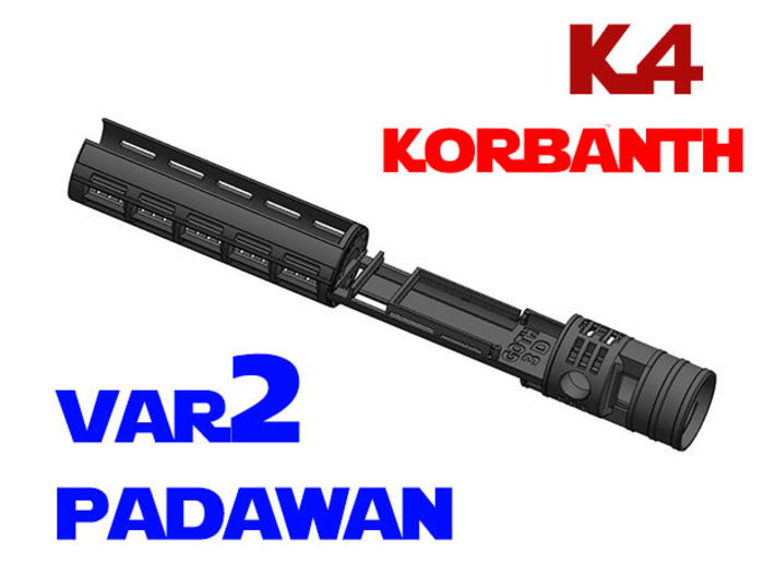 Korbanth / Parks K4 - Padawan All.In.One Var2 3d printed