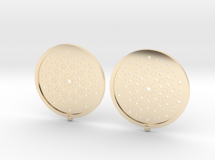 Quasicrystals Diffraction Pattern Pendant - earrin 3d printed