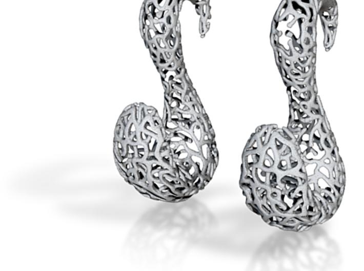 Creative Splash: plug / gauge earrings (8mm) 3d printed