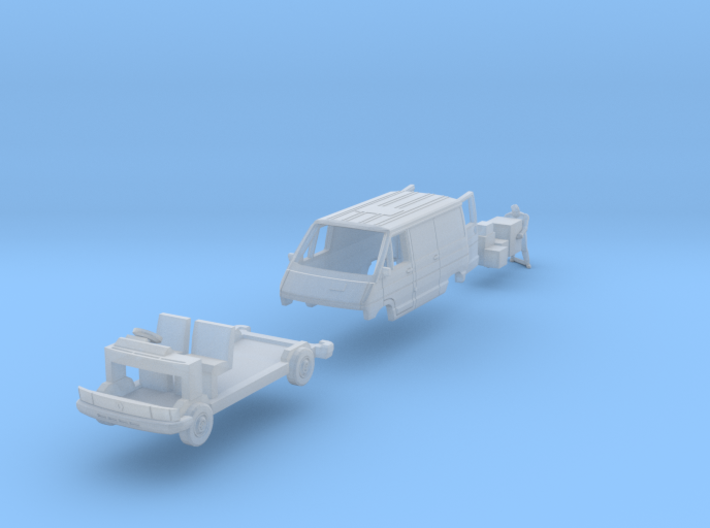 SET Renault Trafic w delivery man (British N 1:148 3d printed