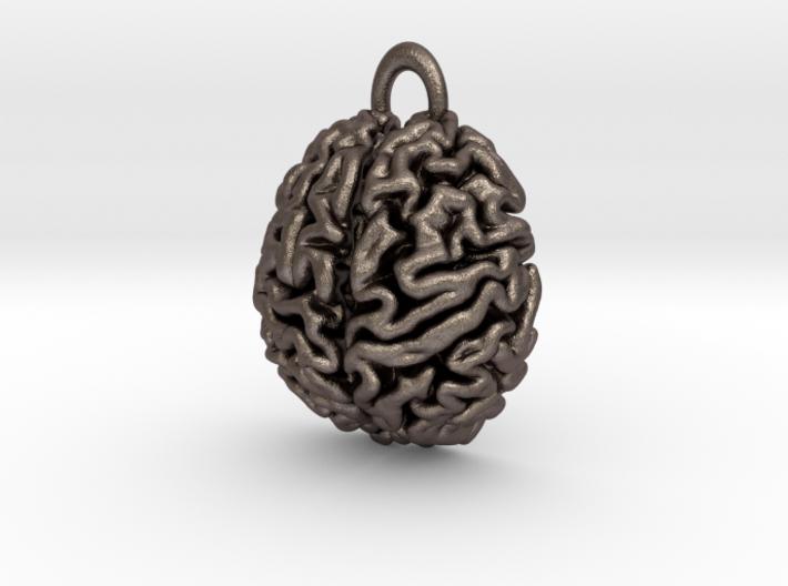 Anatomical Brain Pendant 3d printed