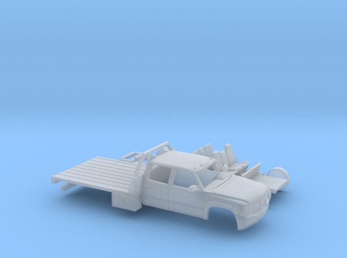 1/87 1999-02 Chevy Silverado CrewCab Flatbed Kit 3d printed