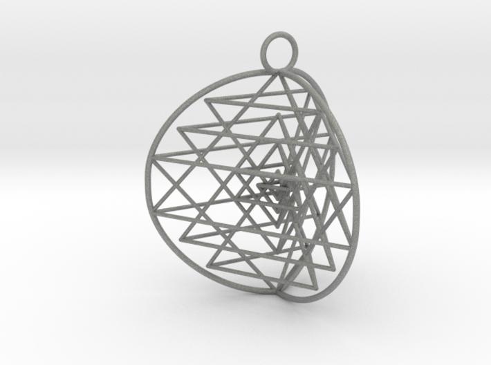 3D Sri Yantra 3 Sided Symmetrical 3d printed