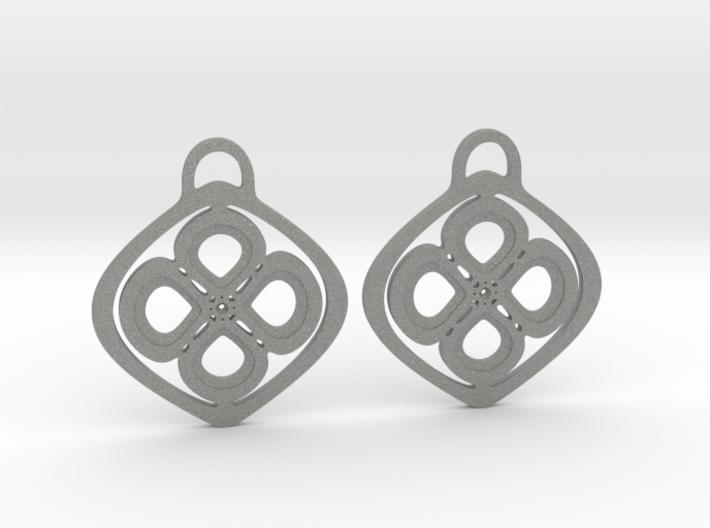 Garden pansies. Earrings 3d printed
